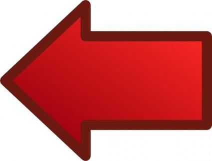 Red Arrow Picture Clip Art Red Left Arrow Clip Artjpg